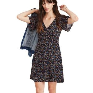 Madewell Cross-Front Mini Dress in Garden Party